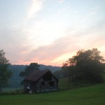 The Hay Barn at Sunset